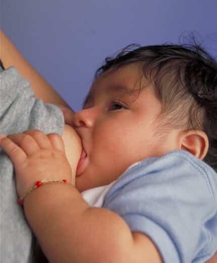 Breastfeeding infant