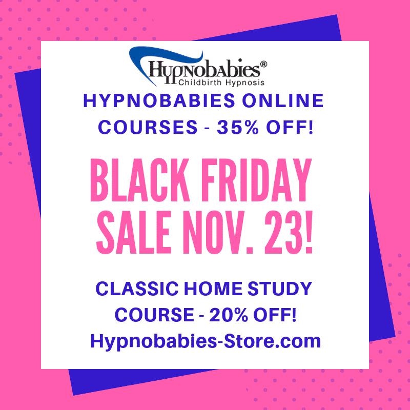 Hypnobabies Black Friday Sale Nov 23, 2018. 35% Off