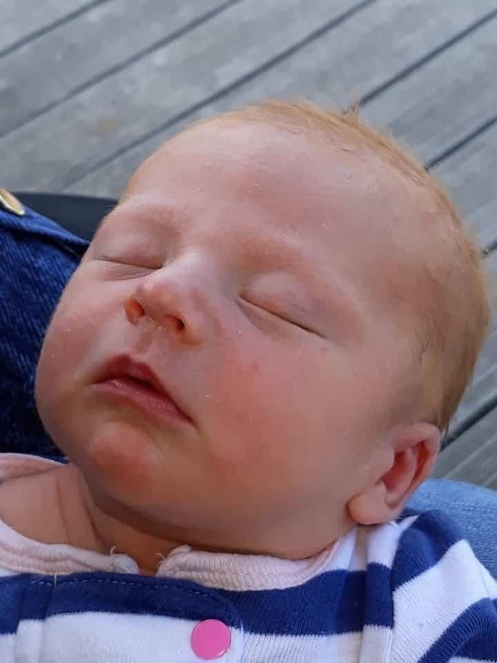 Hypno-mom Melanie's newborn baby.