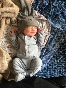 Hypno-mom Kathryn's newborn baby ready to go home