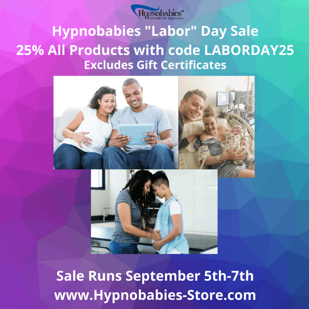 Hypnobabies 25% Off Labor Day