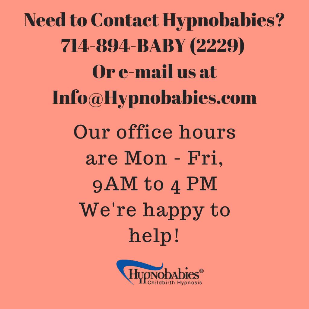 Contact Hypnobabies 714-894-2229